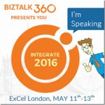 Speaking at Integrate 2016
