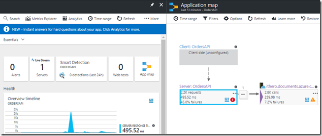 06 Azure Portal - Application Insights - Application map