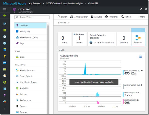05 Azure Portal - Application Insights