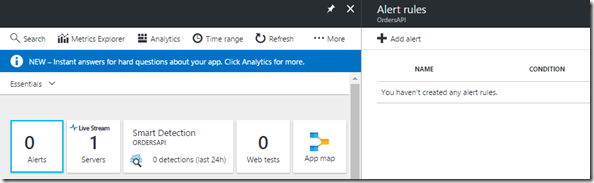 10 Azure Portal - Application Insights - Alerts