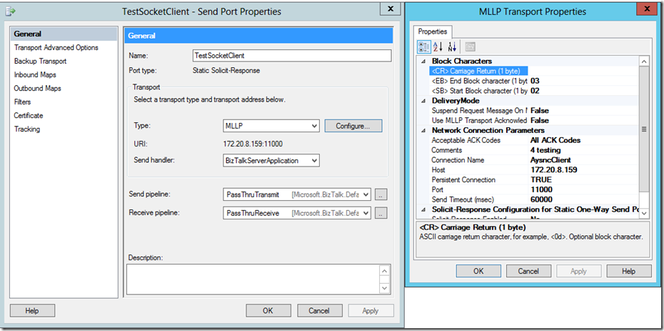Can you use the BizTalk MLLP Adapter as a Socket Adapter