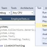 Getting started with Live Unit Testing in Visual Studio 2017
