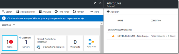 13 Azure Portal - Application Insights - Fired Alert