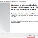 Microsoft BizTalk Server 2016 Feature Pack 1: Step-by-step Installation
