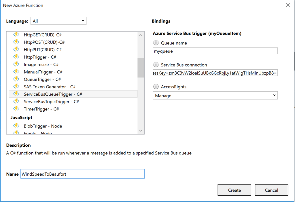 Azure Functions Loggerfactory