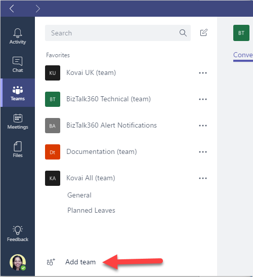 Integrating Microsoft Teams as a Notification channel in BizTalk360