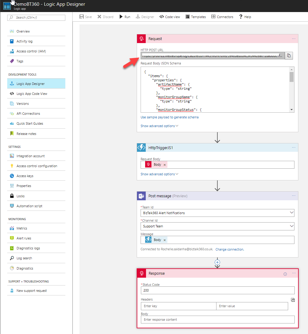 Integrating Microsoft Teams as a Notification channel in