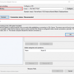 WCF-SQL Adapter: Connecting to the LOB system has failed. A network-related or instance-specific error occurred while establishing a connection to SQL Server