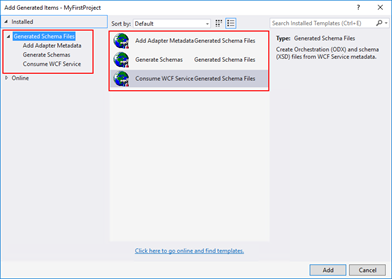 Consume Adapter Service option missing from Visual Studio