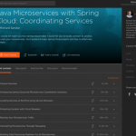 My new Pluralsight course about coordinating Java microservices with Spring Cloud, is out!