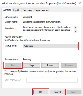 BizTalk Server Administration Console cannot connect to WMI provider: Winmgmt service