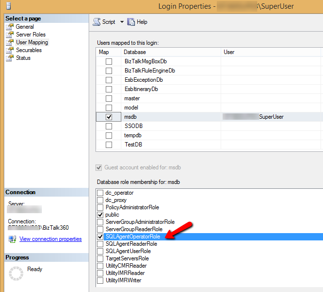 Permissions required to setup monitoring SQL jobs