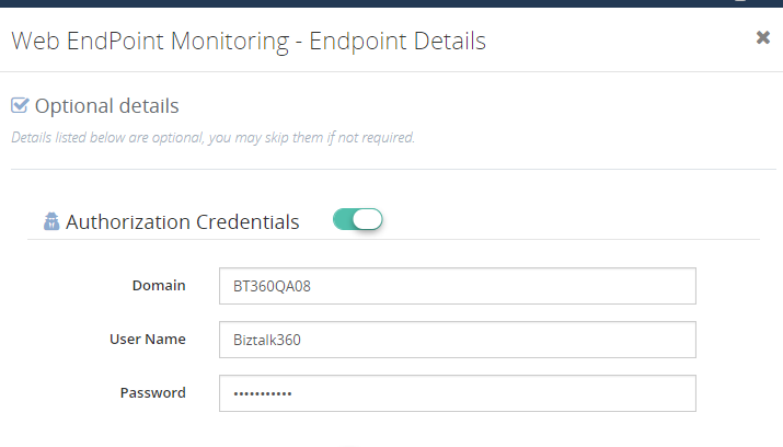 web service endpoint monitoring with BizTalk360