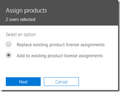 Add licenses to users