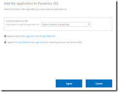 Select your Dynamics 365 environment