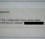 BizTalk Server: Creation of Adapter WCF-SQL Configuration Store entries failed. Access denied.