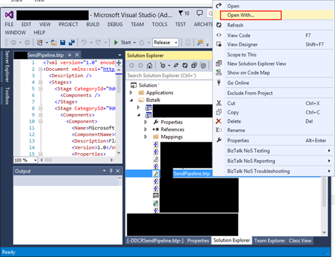 BizTalk Pipeline does not open with BizTalk Pipeline Editor: Visual Studio Pipeline open with