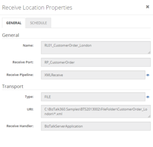 BizTalk360 Search Artifacts - Properties