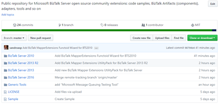 BizTalk Server Community Extensions Utility Packs GitHub Repository