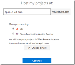 Create VSTS account
