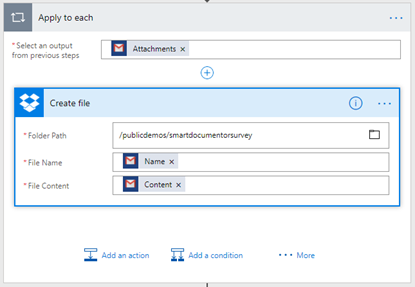 Flow's to the help: SmartDocumentor Listener Flow Dropbox create file Configuration