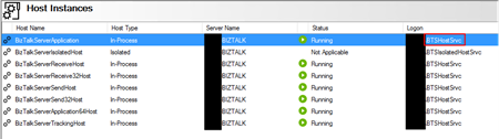 BizTalk Server: File transport does not have read/write privileges for receive location - User that is running Services