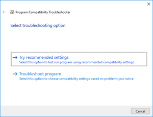 Visual Studio: troubleshoot option