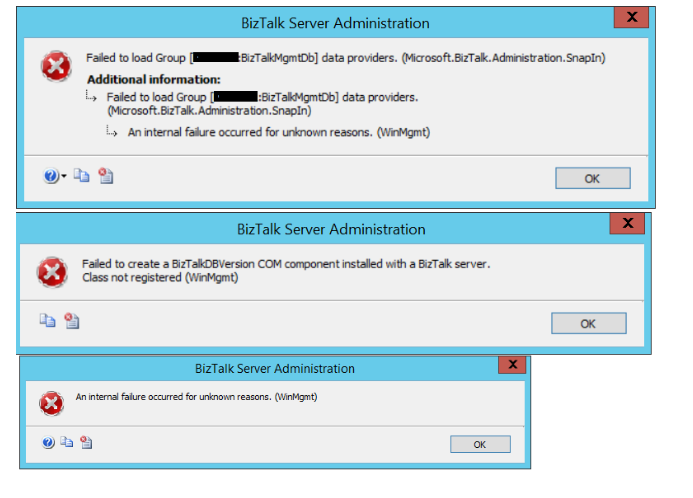 access denied and com activation failure in BizTalk Server