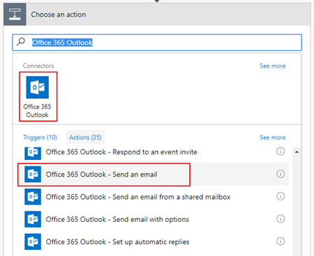 Microsoft Flow: markdown-formatted table - outlook action
