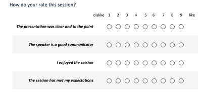 Processing Feedback Evaluations: Flow process - Evaluation Form