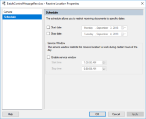 BizTalk Server 2016 Feature Pack 3: Scheduling before Feature Pack 3