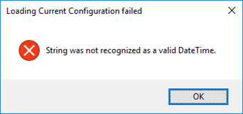 Host Integration Server (HIS) Configuration Console: String was not recognized as a valid DateTime
