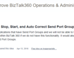 Introducing Send Port Groups for Monitoring in BizTalk360