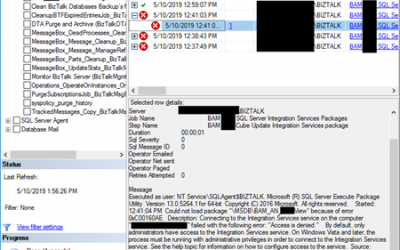 """BizTalk Server 2016 and SQL Server Integration Services (SSIS) 2016: Connecting to the Integration Services service on the computer """"localhost"""" failed with the following error: """"Access is denied."""" – PART II: Could not load package BAM_AN_"""