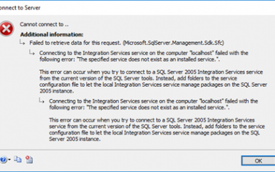 BizTalk Server 2016 and Install SQL Server Integration Services (SSIS) 2016: The specified service does not exist as an installed service