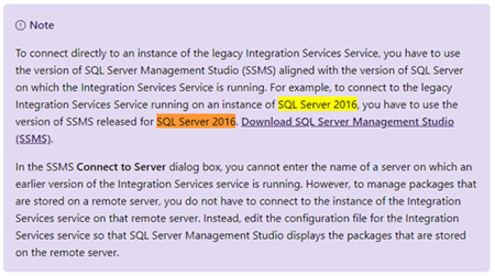 BizTalk Server and SSIS: Documentation about versions