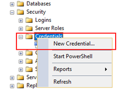 BizTalk Server and SSIS: create a new credential