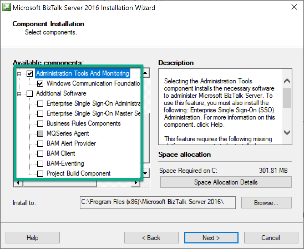Additional licenses needed for BizTalk components on separate servers - BizTalk Server installer