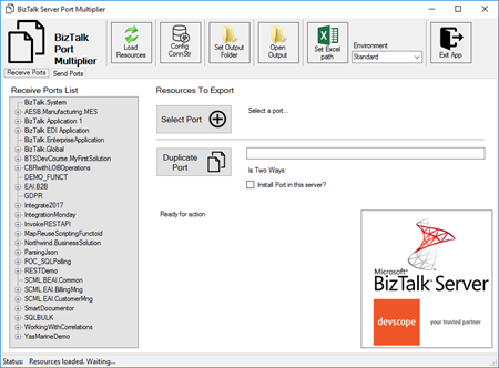 Devscope BizTalk Port Multiplier tool