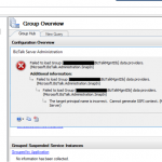 BizTalk Administration Console Error: The target principal name is incorrect. Cannot generate SSPI context