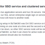 Monitoring Clustered NT Services with BizTalk360