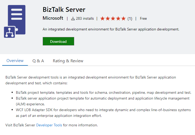 BizTalk Server development tools