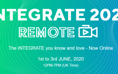 INTEGRATE 2020 Remote (our first virtual conference)