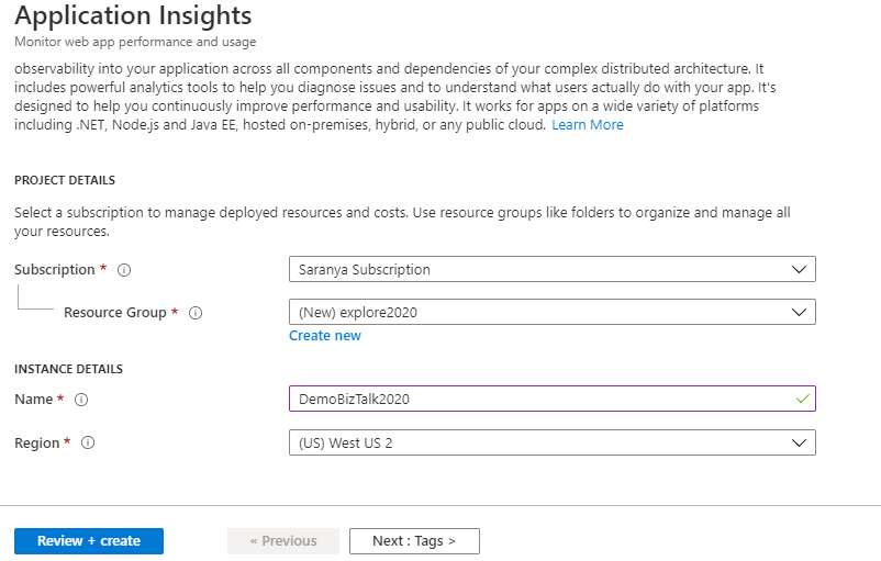 Send BizTalk tracking data to Application Insights