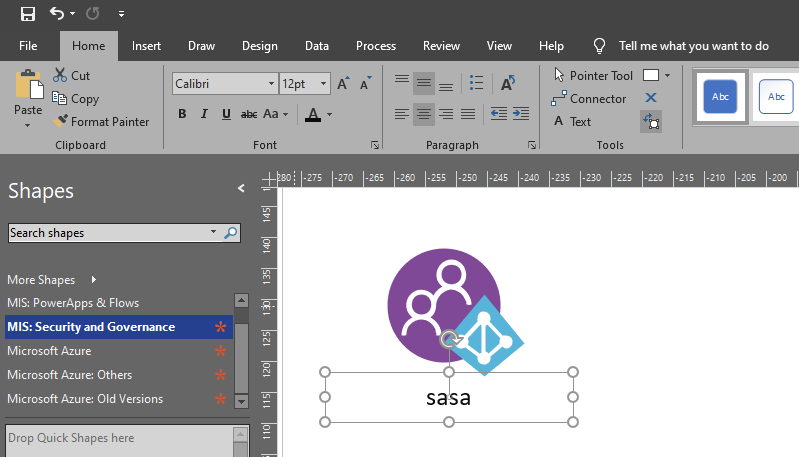 Fix Text annotations on Visio Stencils