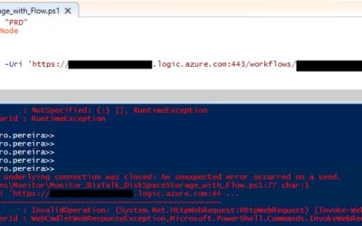 Error while calling Logic App thru PowerShell: The underlying connection was closed: An unexpected error occurred on a send.