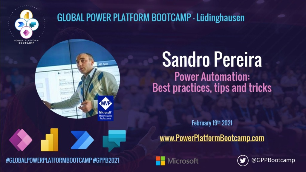 Global Power Platform Bootcamp – Lüdinghausen | February 19, 2021 | Power Automate: Best practices, Tips and Tricks