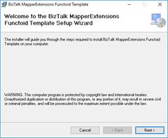 BizTalk MapperExtensions Functoid Wizard: Welcome Screen