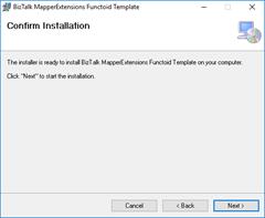 BizTalk MapperExtensions Functoid Wizard: Confirm Screen