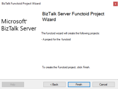 BizTalk MapperExtensions Functoid Wizard: Result Screen